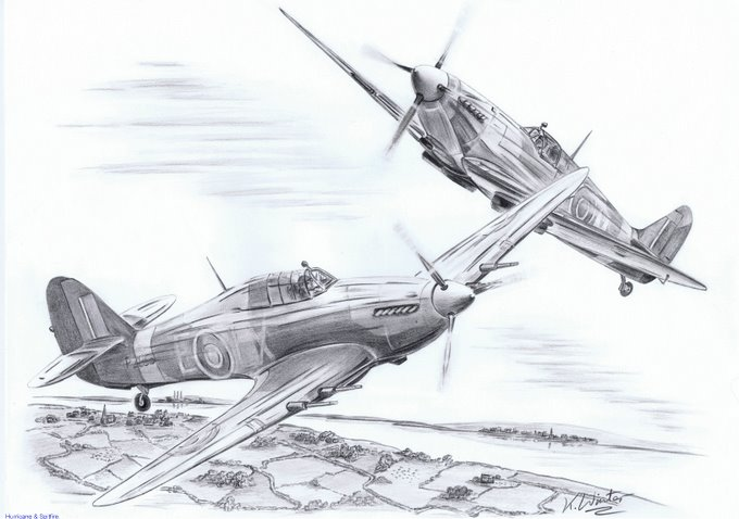 WW 2  pencil art.